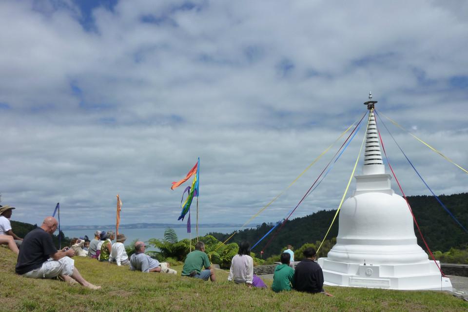 Stupa with people