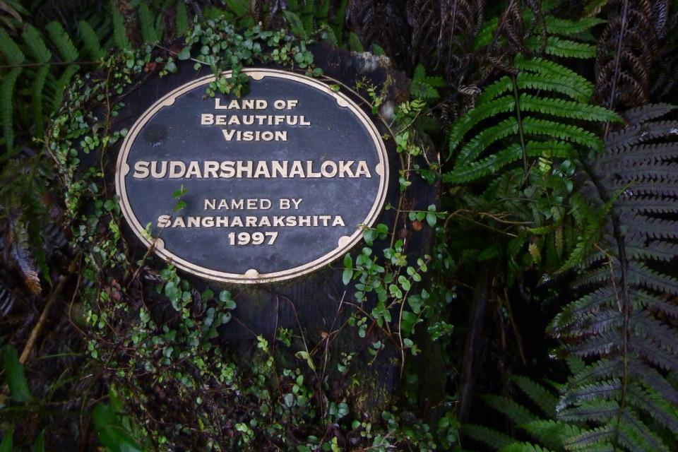 commemorative plaque Bhante naming Sudarshanaloka