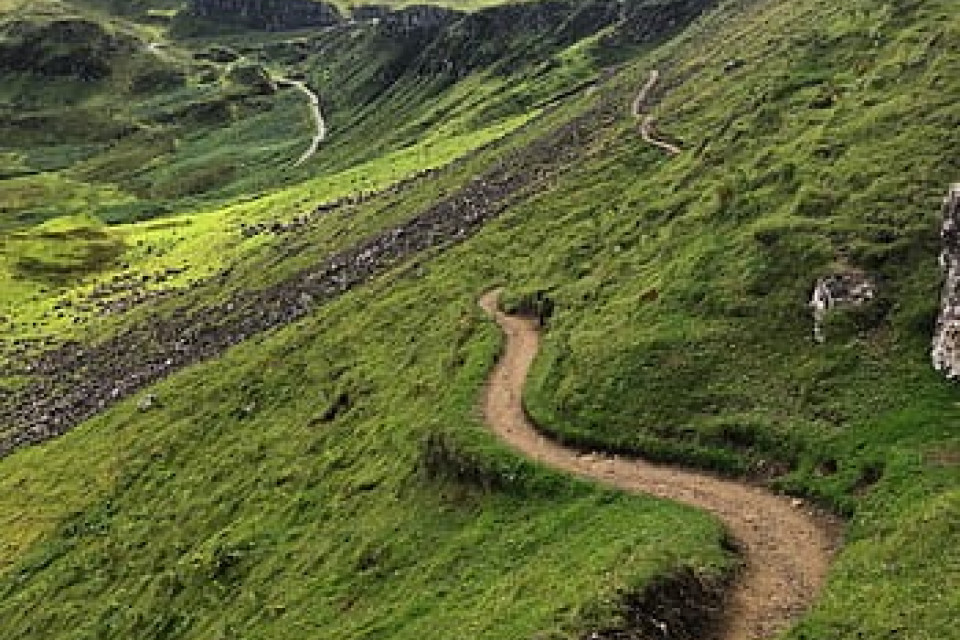 Path in hills